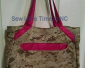 USMC MARPAT Desert Totebag, Made by Approved USMC Hobbyist, License 11651, Swoon Alice Pattern