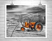 Red Tractor, Art Print, Nogales, Farm Art, Farm Photograph, Rural Art, Rustic Picture, Countryside, Back Roads, 8 x 10, 11 x 14, 16 x 20