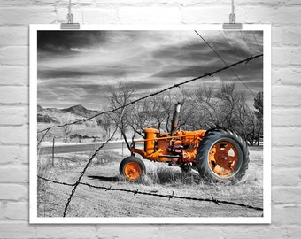 Red Tractor, Farm Country Art, Rural Art, Rustic Art, Nogales, Farm Photograph, Countryside, Back Roads, Country Roads, Rural America