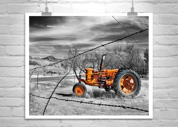 Red Tractor, Farm Art, Rural Art, Rustic Art, Nogales, Farm Photograph, Countryside, Back Roads, Country Roads, Rural America