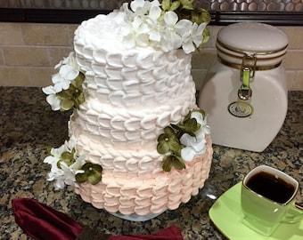 Artificial Cake ~ Display Cake ~ Fake Ombre Cake ~ Wedding Cake ~Tiered Cake ~ Textured Cake ~ Photography Prop Cake ~ Fake Cake  ~Faux Cake