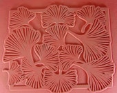 NEW Flexible Rubber Stamp Sheet of Ginkgo Leaves for Scrapbooking, Metal Etching or Clay Impressing, 7 x 9, Hand Drawn