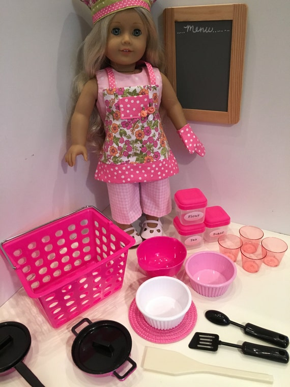 american girl doll or 18 inch doll in the kitchen. Black Bedroom Furniture Sets. Home Design Ideas