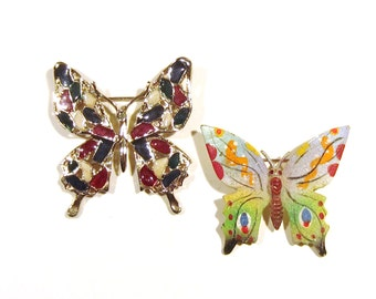 Butterfly Pins - Enamel and sugary coated