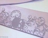 Necktie men lavender skull tie sale item by RokGear