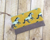 Zippered Clutch - Clutch Purse - Mustang - Horses Clutch