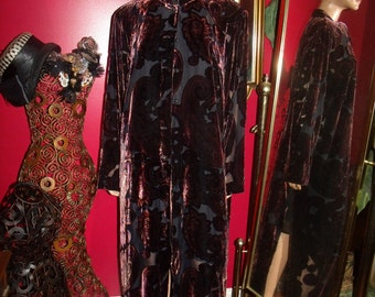 Vintage 80s Velveteen Flapper Opera  Jacket-Coat  Evening Holiday Size 20W