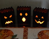 PATTERN: Halloween Luminaries in Plastic Canvas