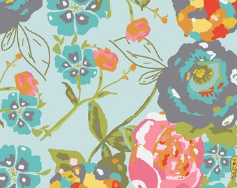 Garden Rocket Turquoise - LillyBelle - Bari J - Art Gallery Fabrics  100% Quilters Cotton Available in Yards, Half Yards, Fat Quarters