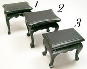 End Tables Black Living Bedroom 1:12 Dollhouse Miniatures Scale Artisan