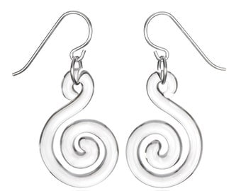 Small Flat Spiral Earrings