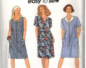 Simplicity 8409 Sewing Pattern, uncut vintage ~ sz 6-16  Easy Womens A-line Dress with zipper front