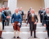Marx Toys collectible president figures with elegant display