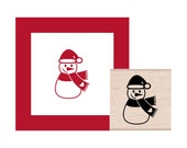 Holiday Snowman Rubber Stamp