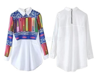 TUNIC TOP -Multicolor-women's-blouses-casual-