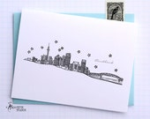 Auckland, New Zealand - Asia/Pacific - City Skyline Series - Folded Cards (6)