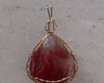 Flame Agate Pendant