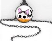 Anime Cat Necklace, Anime Kitty Pendant, Cute Anime Bohemian Gypsy Jewelry Anime Kawaii Manga  AC14