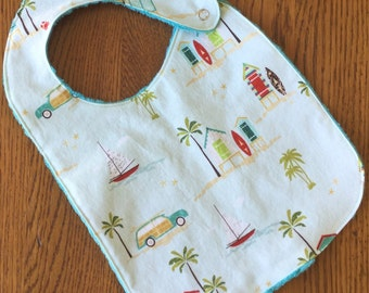 Beach Bum Minky Baby/Toddler Bib