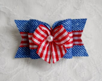 "7/8"" Country Cutie Dog Bow"
