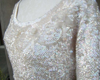MARILYN Vintage Movie Star Sequined Sweater