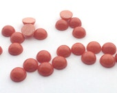 12 Pieces Natural Dolomite Dyed Coral Cabochons-8mm (08DOLO)(B-5-23)
