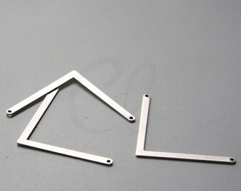 4 Pieces Oxidized Silver Plated Brass Base Arrow Link - Pendant 22x39.6mm (2002C-R-385)