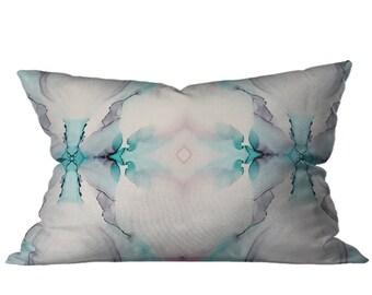 Megan Gersch + TEOT Mirrored Rorschach Watercolor Accent Lumbar Pillow 12 x 20