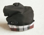Reversible Plaid Slouchy Hat - Handmade by The Kisses Co. - Boys Accessories