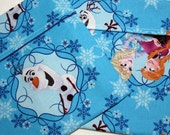 Lined Sandwich bag--Frozen with Anna, Elsa and Olaf