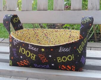 Fabric Basket Bin, Storage, Organization, Home Decor, Gift Bin, Fabric Bin, Halloween, Small Size