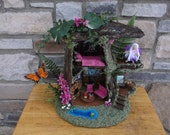 Fairy Play House Deep in the Forest with white LED Lights