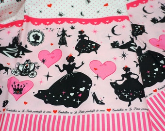 1 meter Cinderella print  100  cm by 106 cm or  39  by 42 inches  nc53