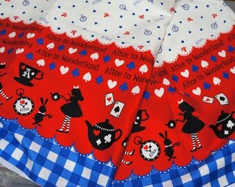 1 meter Alice in Wonderland print  100  cm by 106 cm or  39  by 42 inches  (lb1B)