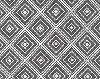 Five (5) Yards- Metro Living Diamond Robert Kaufman Fabrics SRK-15082-183 Pewter Gray