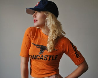 1980s Newcastle Worn-in Tee~Size Extra Small (Kids Size 10/12)