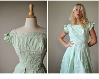 1950s Spring Bud Dress~Size xxs/xs