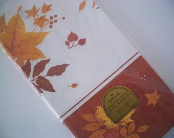 Vintage Hallmark Fall/Autumn Paper Tablecloth