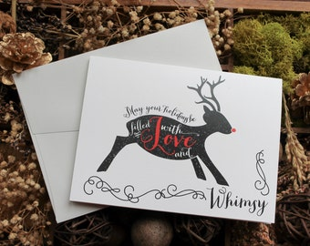 Christmas Card Set | Holiday Card | Christmas Card | Greeting Cards | Personalized Christmas Cards | Reindeer | Deer Love and Whimsy
