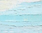 Abstract ocean oil painting: Beach Mist