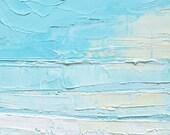 Abstract ocean oil painting: Beach Mist II