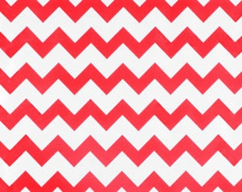 Oilcloth Chevron Red -- Sold by the yard