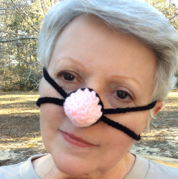 Pink Cotton Candy Nose Warmer, Tween, Teen, Woman, Crocheted, Nose Cozy, Cold Nose Cover, Winter Fun, Girlfriend Mom gift, Vegan,