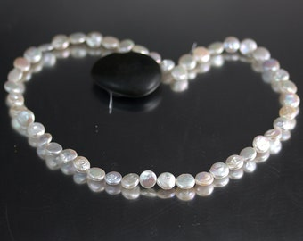 Half Strand Tiny 9mm Coin Pearls