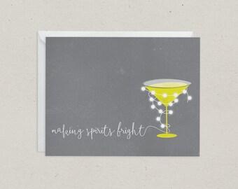 50% OFF Making Spirits Bright Christmas Card