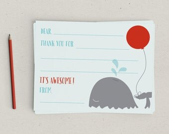 Clearance | Fill In Thank You | Whale | Kids | Notes