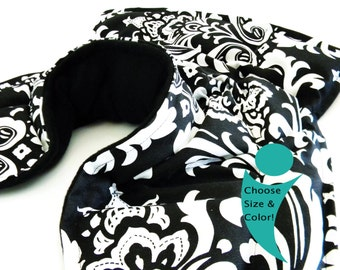 Neck Shoulder Heat Wrap, Neck Heat Wrap Pillow, Heating Pad, black and white pack, Microwave Wrap