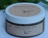 Free Shipping Natural Moroccan Black Soap With Argan Oil and Lemongrass essential oil (200gm) 7 oz beldi Savon Noir Olive oil body soft