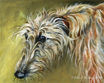 Lurcher Dog - ORIGINAL Oil Painting