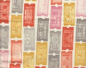Moda Fabrics 2wenty Thr3e Tickets on Cream - Half Yard